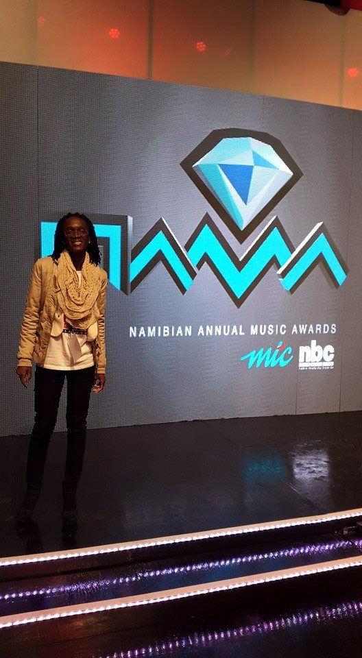 Magali Palmira Wora lors de la ceremonie des Namibian Annual Music Awards .