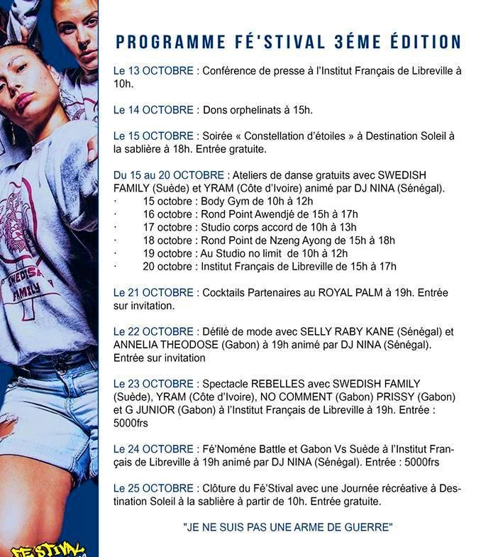 programme FESTIVAL DE DANSE