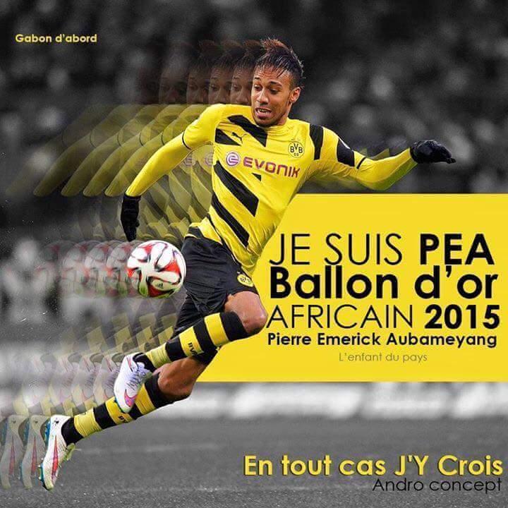 Pierre-Emerick Aubameyang, Ballon d'Or Africain 2015.