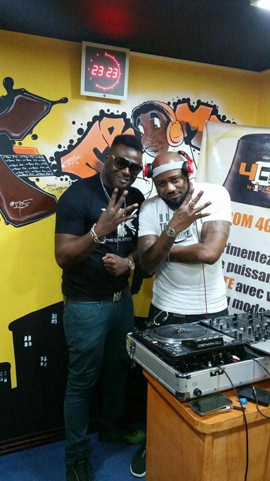 Franck Baponga et DJ FLEO. ( CREDITS PHOTOS URBAN FM )
