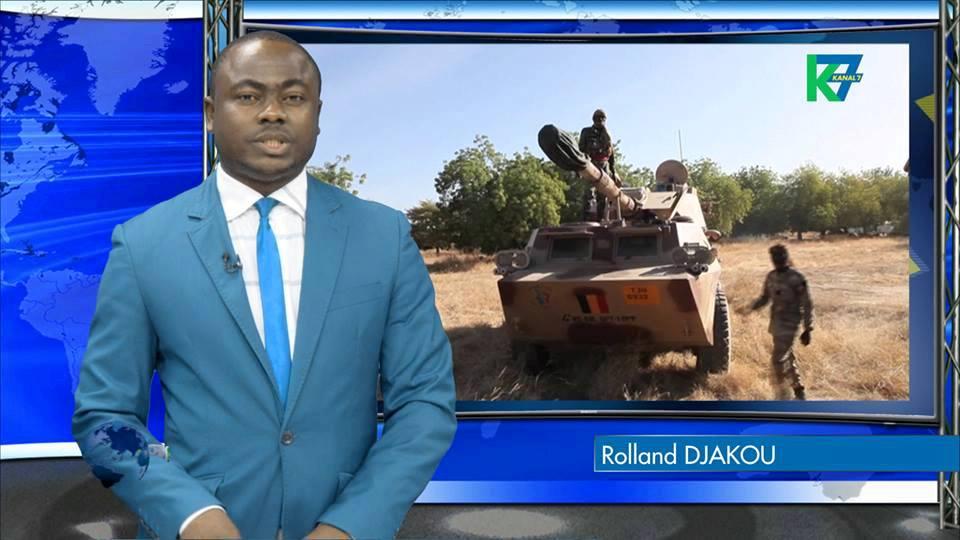 Rolland Djakou, lors du JT de 20h sur Kanal 7.