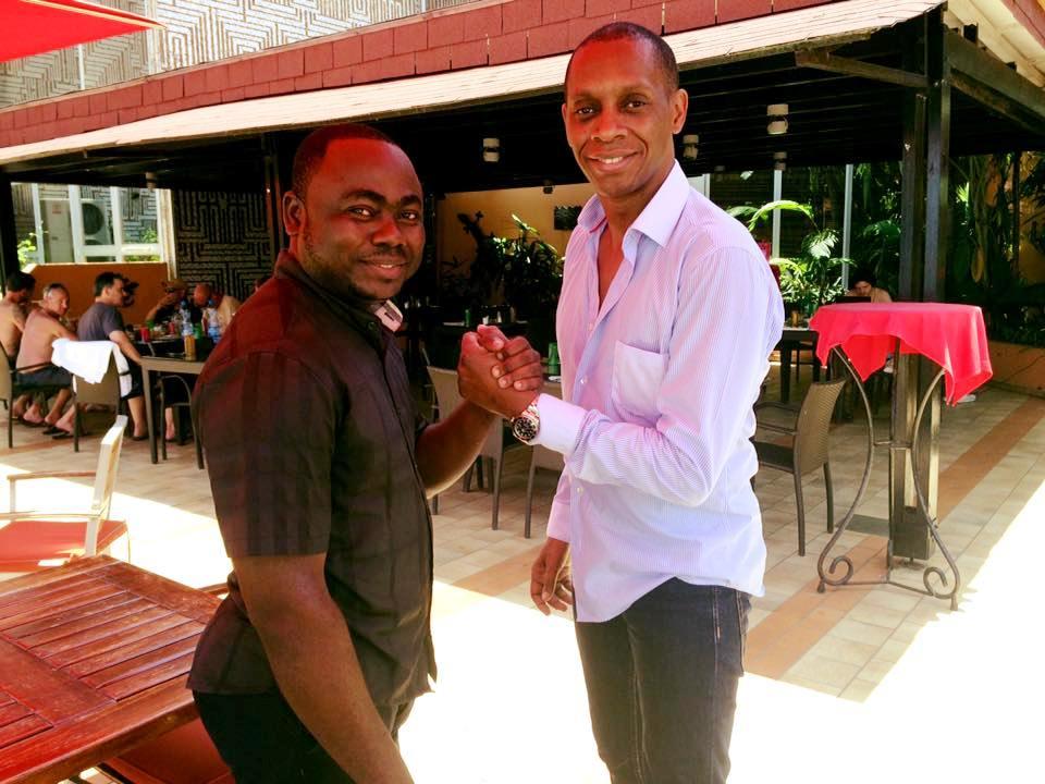 Rolland Djakou et Claudy Siar.