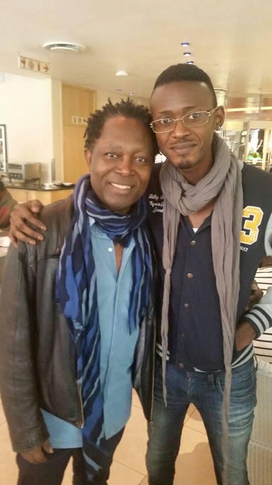 Brake Makaya et son coach Lokua Kanza.