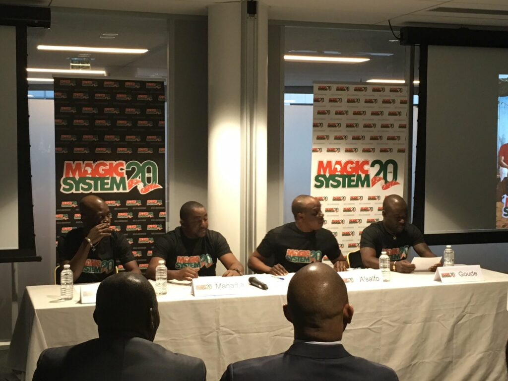 Conférence de presse de Magic System le 15 mars 2017