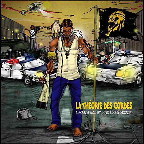 """Cover du 3e album de Lord Ekomy Ndong """"La théorie des cordes""""."""