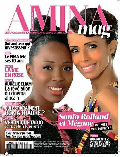 Megane Deutou, Miss MIXA Afrique 2016 en cover d'Amina avec Sonia Rolland