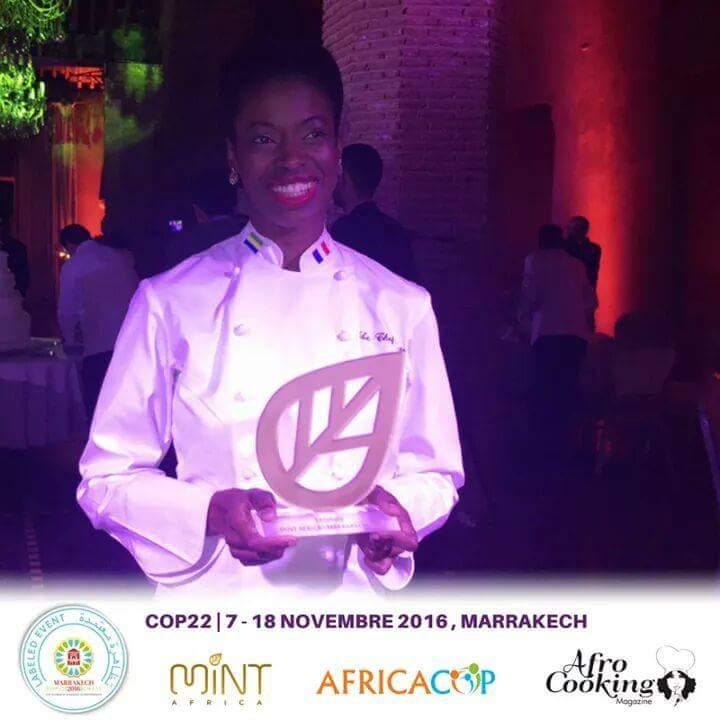 Le Chef Anto récompensée à Marrakech le 18 novembre 2016